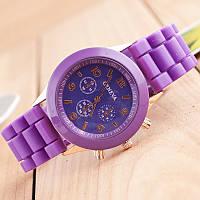 Красивые женские часы Geneva с фиолетовым ремешком