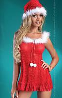 Новогодний пеньюар с шапочкой Christmas Bell