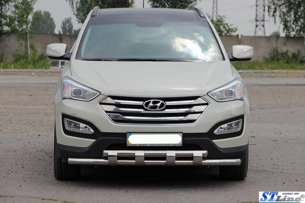 Нержавеющий кенгурин для Hyundai Santa Fe DM 2012+