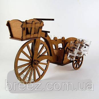 Рюмочный набор Велосипед с тележкой, фото 2
