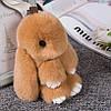 Брелок Кролик или Зайка из натурального меха 20 см, фото 7