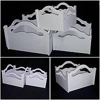Ящик окрашенный для декора, дерево и фанера, разные цвета, 12х16х16 см., 190/160 (цена за 1 шт. + 30 гр.)