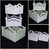 Окрашенный деревянный ящик для декора, разные цвета, 15х20х20 см., 220/190 (цена за 1 шт. + 30 гр.)