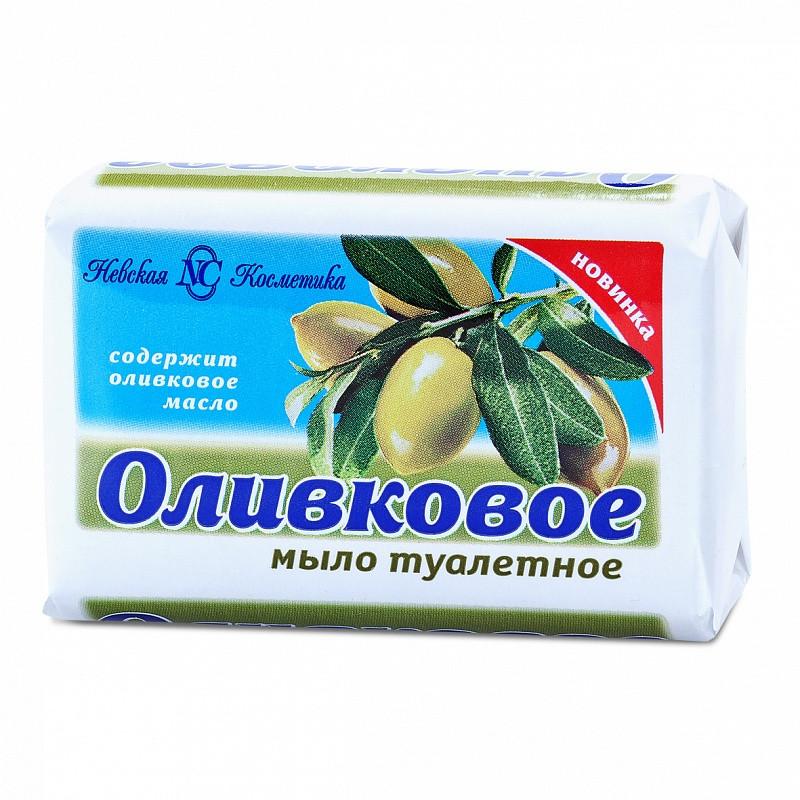 Мыло туалетное Оливковое твердое Невская косметика 90 г. (10172)