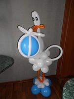 Композиція з кульок Лелека