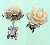Срібні сережки з лазуритом