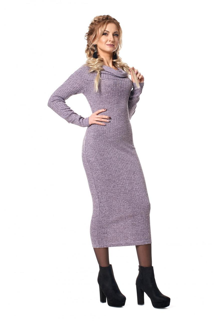 096d1894270 Приталенное трикотажное платье с открытыми плечами - оптово - розничный  интернет - магазин