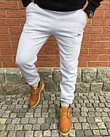 Штаны теплые серые Nike (спортивные)