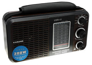 Радиоприемник Kasung USR-11  USB SD  АКБ