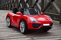 Детский электромобиль 1515 Порше Премиум, открываются двери, 4 Амортизатора, красный