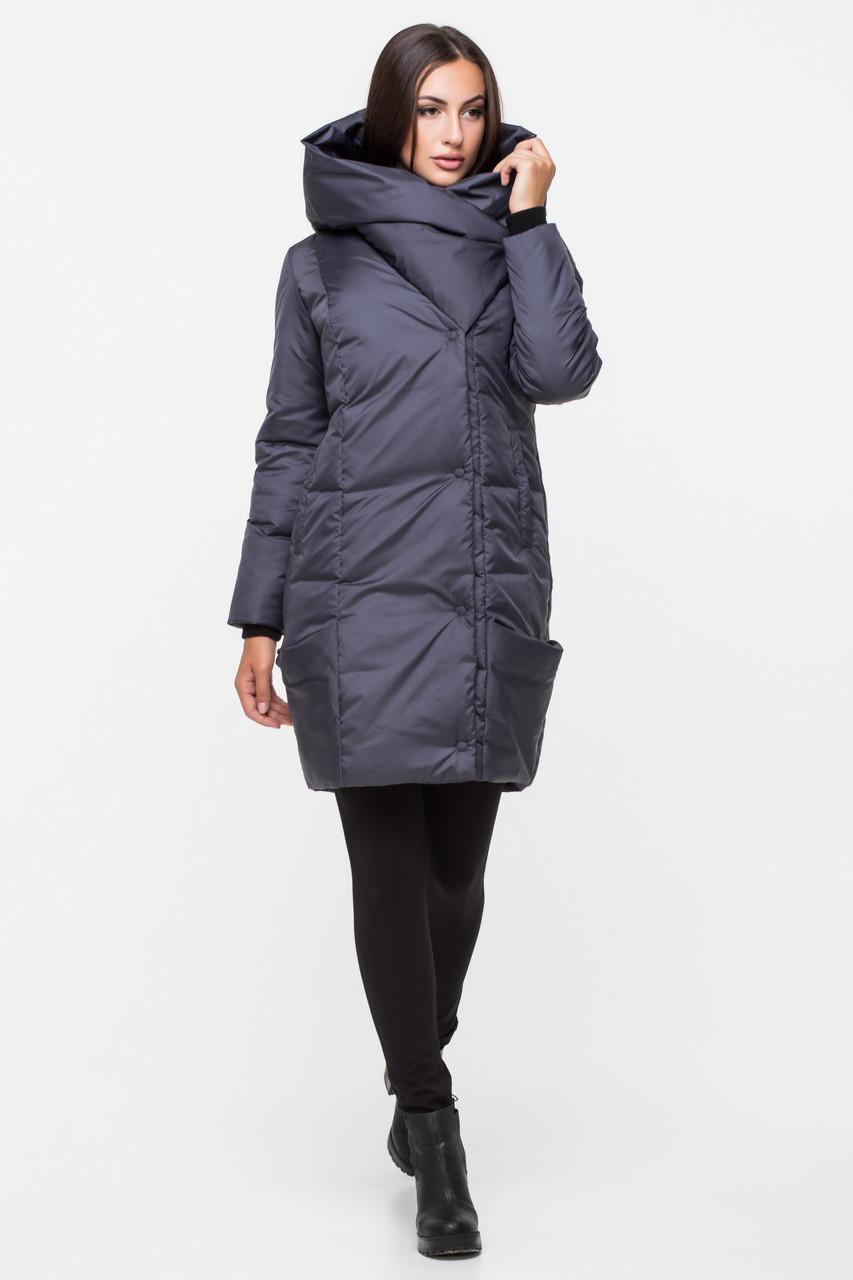 Зимняя куртка женская Kattaleya KTL-123 цвета темный графит (#596)