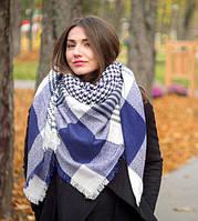 Женский теплый платок Арафатка СНР синий