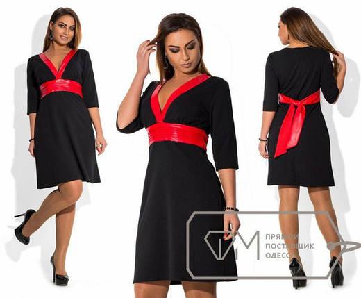 """Роскошное женское платье ткань """"Креп трикотаж"""" 48, 50 размер батал, фото 2"""