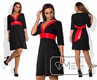 """Роскошное женское платье ткань """"Креп трикотаж"""" 48, 50 размер батал"""