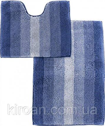 Набор ковриков для ванной комнаты «МАХРАМАТ» (синий), фото 2