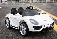 Детский электромобиль 1515 Порше Премиум, открываются двери, 4 Амортизатора, белый