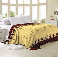 Двухспальное постельное белье с евро простыней (нестандартный) голд