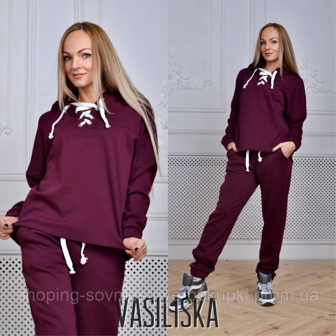 db35caab84a Теплый спортивный костюм женский (серый