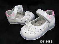 Нарядные белые туфли для девочки с орто-подошвой