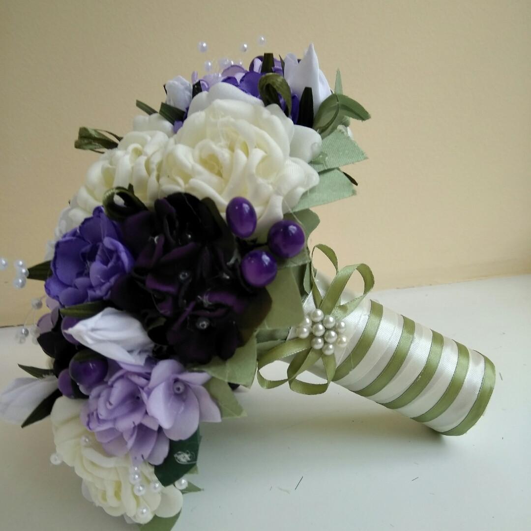 Сиреневый букет-дублер для свадьбы