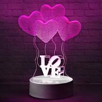 Светильник, ночник, лампа 3D Сердце