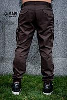 Штаны карго cargo мужские коричневые MAN AND WOLF pants cotton