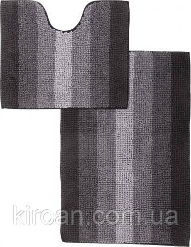 Набор ковриков для ванной комнаты «МАХРАМАТ» (черный)