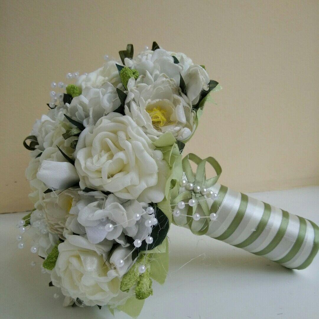 Свадебный букет-дублер айвори цвета
