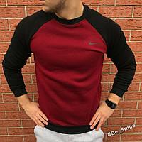 Свитшот теплый красный\черный (спортивный) Nike