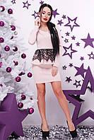 Платье баска с гипюром
