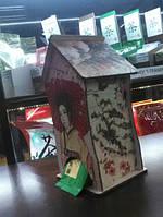 Чайный домик для хранения чая в порционных пакетиках, декор