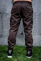 Штаны (брюки) карго мужские коричневые MAN AND WOLF pants cotton