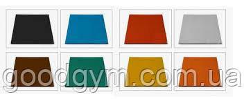 Разноцветная  резиновая плитка, размером 500х500х25 мм, фото 2