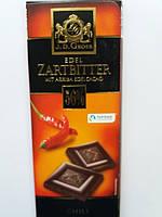 Черный шоколад J.D.Gross Edel Zartbitter schokolade mit Arriba Edelcacao 56% Chili - с перцем чили