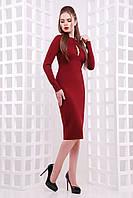 Бордове плаття нижче колін, фото 1
