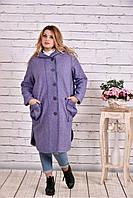 Сиреневое пальто  t0642-2 (гфс)