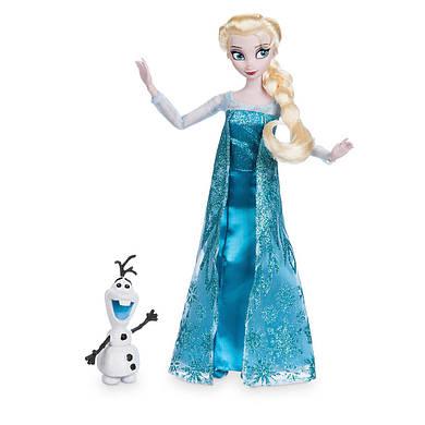Эльза Холодное сердце Дисней кукла принцесса с фигуркой Олафа/ Elsa doll Frozen Disney 2017