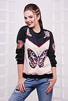 Теплый женский свитшот Бабочка, фото 1