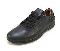 Туфли мужские  Tomi Hilfiger кожаные черные (р.40,41,42,43,44)