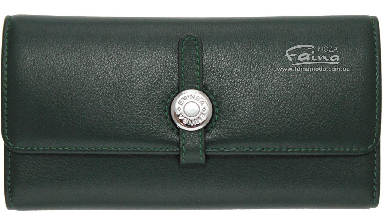 Женский кошелек кожаный зеленый Eminsa 2114-12-16