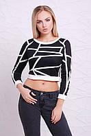 Короткая женская кофта с длинным рукавом, фото 1