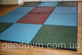 Разноцветная  резиновая плитка, размером 500х500х40мм, фото 3