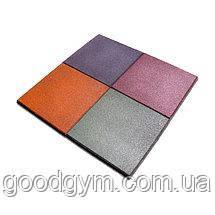 Разноцветная  резиновая плитка, размером 500х500х35 мм, фото 2