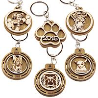 Брелки для ключей Собачки