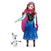 Анна Холодное сердце Дисней кукла принцесса с фигуркой Олафа / Anna doll Frozen Disney 2017