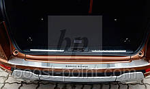 Захисна хром накладка на задній бампер з загином Land Rover Range Rover Evoque LRX (ленд рендж ровер евок 08)