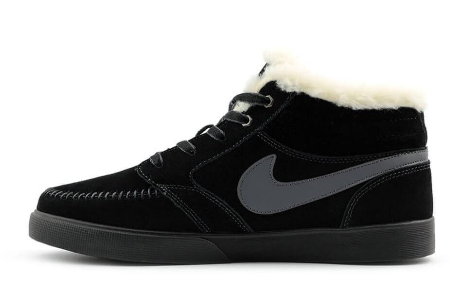 25191517 Nike Blazed Mid Black С МЕХОМ. Nike winter. Стильные кроссовки. Мужская  обувь.