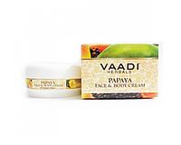 Крем для лица и тела Папайя, Vaadi Herbals Papaya Face & Body Cream 150мл