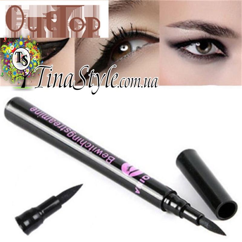 Подводка для глаз век YANQINA суперстойкая 36 часов  цвет черний фломастер карандаш Waterproof Eye Liner