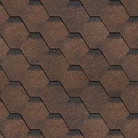 Битумная черепица ШИНГЛАС коллекция ФИНСКАЯ ЧЕРЕПИЦА СОНАТА (окисленный битум) цвет коричневый